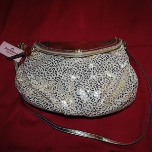 NWT Gold Leopard Print Juicy Couture Purse